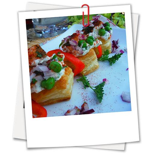 Salmon Puff Pastry Bites