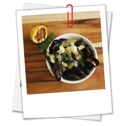 Mussels with Wine and Cream Sauce
