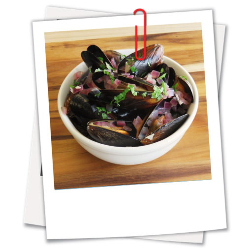 Mussels Mediterranean in White Wine