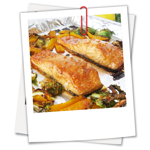 Sheet Pan Honey-Soy Salmon